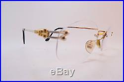 Vintage gold filled eyeglasses frames FRED France Mod. ORCADE rimless 22. 135