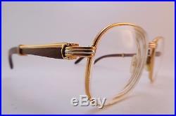 834f733736ad3 Vintage gold filled   wood eyeglasses frames Cartier Paris Monceau  Palisander