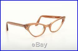 Vintage pointy 1950s eyeglasses Selecta Colette Simili velvet rust 44-22mm EG1-1
