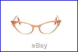 Vintage pointy 1950s eyeglasses Selecta Colette Simili velvet rust 46-22 mm EG7