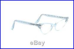 Vintage pointy cat eye eyeglasses velvet blue Colette Simili 44-20mm Selecta D8