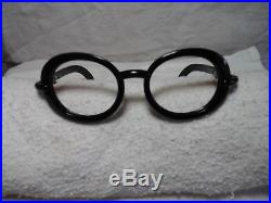 Vintage round Karl Lagerfeld C3 black eyeglass frame