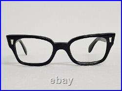 Vtg 60s Black frame France ORA Winston Eyeglasses frames cat Eye frame glasses