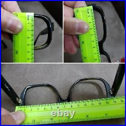 Vtg 70s Oversized Square mens France frames Douglas Eyeglasses thick frame