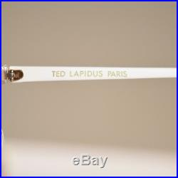 Vtg 70s ivory marble + gold TED LAPIDUS oversized MADE IN FRANCE boho sunglasses