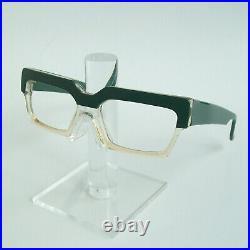 Vtg 80s New Wave CLAUDE MONTANA MIKLI OLIVEGREEN GLASSES SUNGLASSES FRAME France