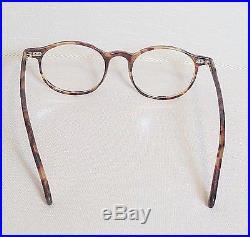 Vtg Authentic Francois Pinton Faux Tortoise Horn Rimmed Eyeglasses Frames
