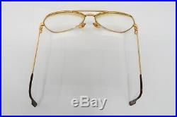 Vtg CARTIER Vendome Santos Gold Aviator Rx Eyeglasses Frames 5914 A520