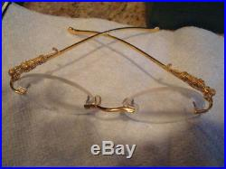 Vtg Cartier Pantere Round Lens No Frame GP Glasses withPanther Resting on Temples