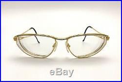 Vtg Fred Paris Force 10 Alize Eyeglass Frames Eyewear 22K Gold-Plated With Case