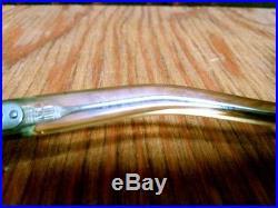 Vtg Givenchy Nico Large Frame Eyeglasses YellowithOrange/Brn France Givenchy Case