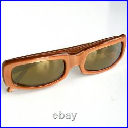 Vtg New Wave 80s CLAUDE MONTANA for Alain Mikli Brown MIRRORED SUNGLASSES France