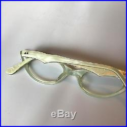 White Cateye Glasses, Extreme Cat Eye Glasses, New Old Stock Vintage Pearl White