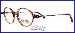 Women's Club LA 3401 Small Round Oval Purple Tortoise Plastic Eyeglasses France
