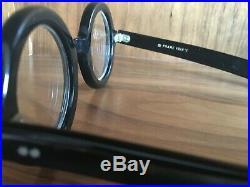 Women's Frame France Vintage Glasses, Black Round with Rhinestones 1960s