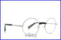 Yohji Yamamoto Modern Vintage Round Eyeglasses Silver Black 3001 019