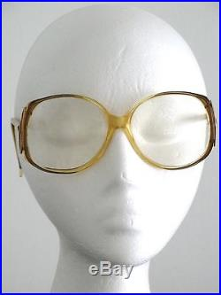 Yves Saint Laurent Vintage Eyeglass Frames YSL 324 Frame France Golden 1970's