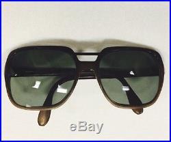 ZYLOWARE VINTAGE Eyeglass Frame NYLON 140 1970's Made in France Brown Tone